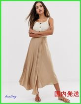 ASOS Casual Style Pleated Skirts Plain Long Maxi Skirts