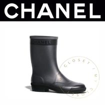 CHANEL ICON Wedge Plain Toe Casual Style Street Style Plain Handmade