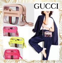 GUCCI Ophidia Casual Style Blended Fabrics Crystal Clear Bags PVC Clothing