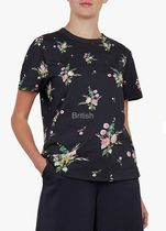 TED BAKER Flower Patterns Casual Style Plain Medium Short Sleeves