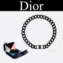 Christian Dior Street Style Chain Plain Silicon Necklaces & Chokers