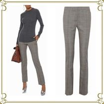 Stella McCartney Other Check Patterns Wool Long Elegant Style Skinny Pants