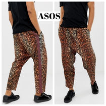 ASOS Leopard Patterns Street Style Cotton Sarouel Pants