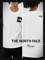 THE NORTH FACE Crew Neck Unisex Cotton Short Sleeves Crew Neck T-Shirts