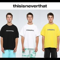 thisisneverthat Pullovers Street Style Cotton Short Sleeves T-Shirts