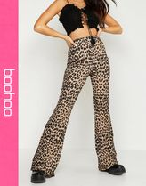 boohoo Printed Pants Leopard Patterns Casual Style Pants
