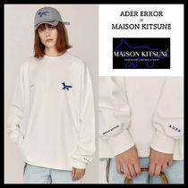 ADERERROR Crew Neck Pullovers Unisex Street Style Collaboration