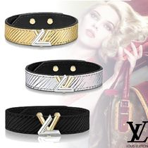 Louis Vuitton Bangles Leather Elegant Style Bracelets
