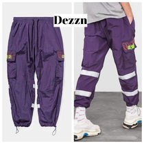 Dezzn Leopard Patterns Street Style Cotton Sarouel Pants