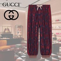 GUCCI Printed Pants Blended Fabrics Cotton Patterned Pants