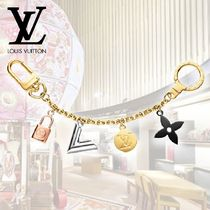 Louis Vuitton V Monogram Unisex Street Style Leather Keychains & Bag Charms