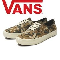VANS AUTHENTIC Flower Patterns Camouflage Casual Style Unisex