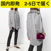 BALENCIAGA Stripes Casual Style Shirts & Blouses
