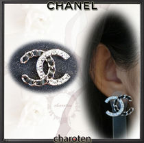 CHANEL ICON Costume Jewelry Blended Fabrics Chain With Jewels