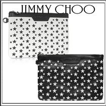 Jimmy Choo Star Unisex Studded Leather Clutches