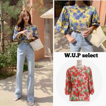 Flower Patterns Casual Style Shirts & Blouses