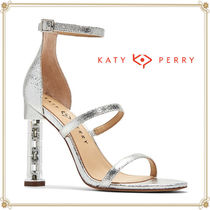 Katy Perry Open Toe Casual Style Chain Leather Block Heels