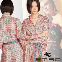 ETRO Silk Long Sleeves Medium Elegant Style Shirts & Blouses