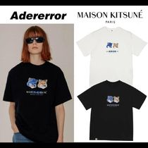 ADERERROR Crew Neck Unisex Street Style Collaboration Cotton