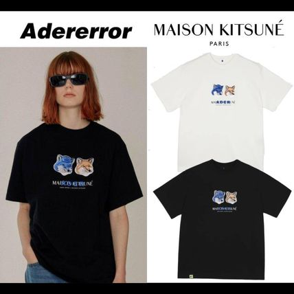 ADERERROR Crew Neck Crew Neck Unisex Street Style Collaboration Cotton