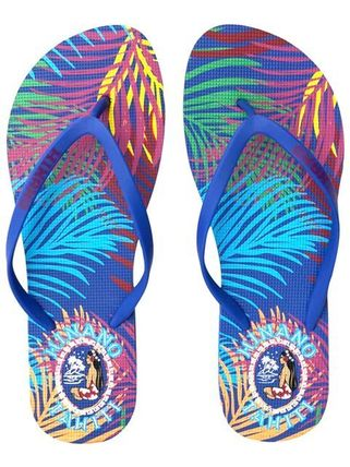Tropical Patterns Casual Style Flip Flops Flat Sandals