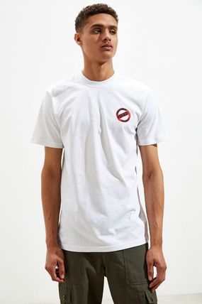 Crew Neck Street Style Cotton Short Sleeves