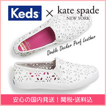 kate spade new york Flower Patterns Round Toe Rubber Sole Casual Style Plain