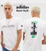 adidas Crew Neck Pullovers Street Style Cotton Short Sleeves