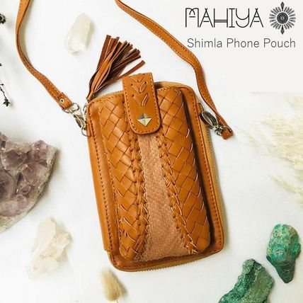 Plain Leather Handmade Pouches & Cosmetic Bags