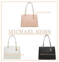 Michael Kors A4 Chain Plain Office Style Totes