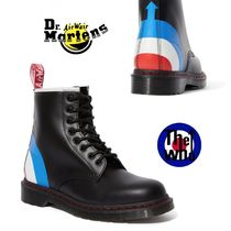 Dr Martens Unisex Blended Fabrics Street Style Collaboration Leather