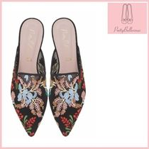 Pretty Ballerinas Flower Patterns Elegant Style Sandals Sandal