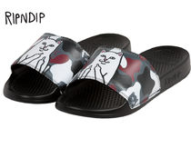 RIPNDIP Camouflage Street Style Shower Shoes Logo Shower Sandals