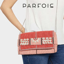 PARFOIS Casual Style Faux Fur Chain Plain Shoulder Bags
