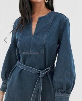 Crew Neck Short Casual Style Long Sleeves Cotton Dresses