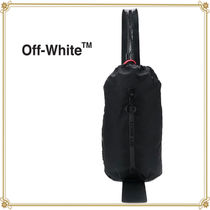 Off-White Casual Style Plain Leather Bags