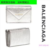 BALENCIAGA PAPIER A4 Unisex Plain Folding Wallets