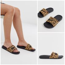 Nike Leopard Patterns Unisex Street Style Shower Shoes