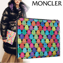 MONCLER Canvas Street Style Clutches