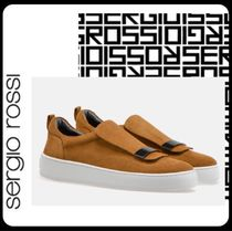 Sergio Rossi Unisex Suede Blended Fabrics Street Style Plain