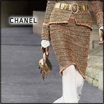 CHANEL 2019-20AW SKIRT gold, black & red skirts