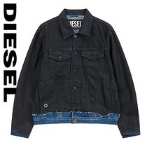 DIESEL Short Denim Street Style Denim Jackets Jackets