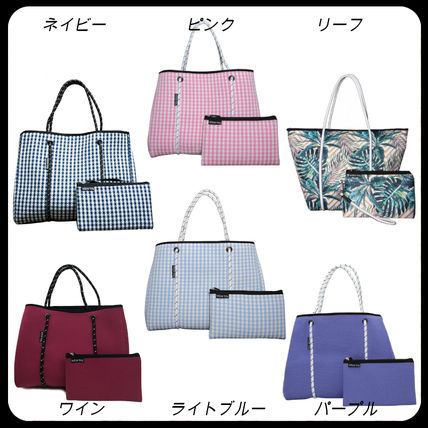 Gingham Tropical Patterns Casual Style Unisex Street Style