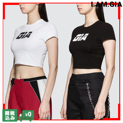 Crew Neck Short Street Style Short Sleeves Cropped