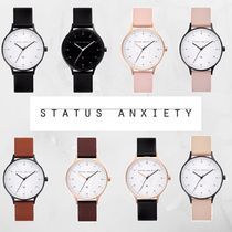 STATUS ANXIETY Round Digital Watches