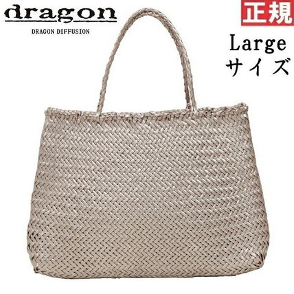 A4 Plain Leather Handmade Straw Bags