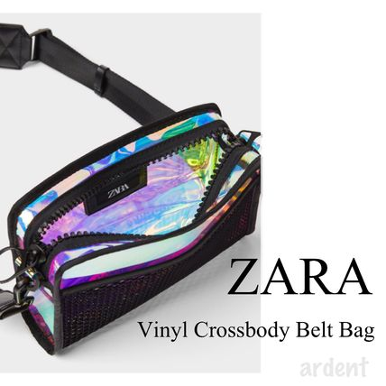 2WAY Crystal Clear Bags PVC Clothing Shoulder Bags