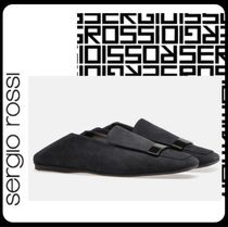 Sergio Rossi Unisex Suede Blended Fabrics Plain Loafers & Slip-ons