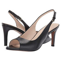 Cole Haan Open Toe Plain Pin Heels Elegant Style