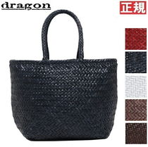 Dragon Diffusion A4 Plain Leather Handmade Straw Bags